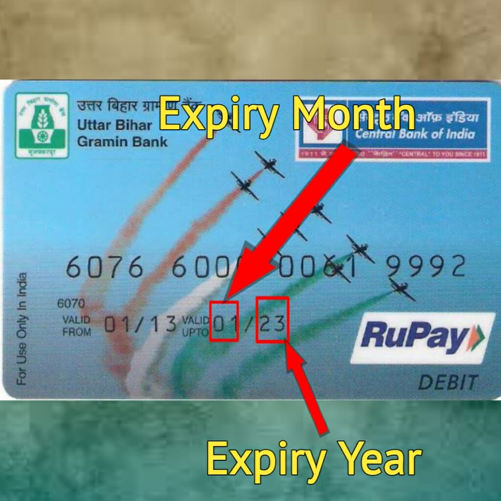 expiry month and year