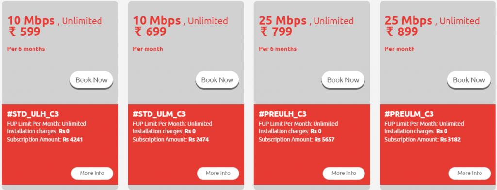Best Broadband Internet Service Providers In Bangalore Tikona plan