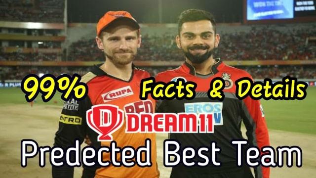 Bangalore vs Hyderabad Dream11 Prediction