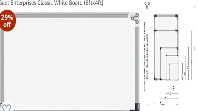 large white board